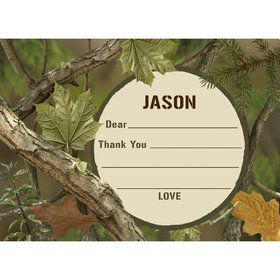 Camo Personalized Thank You Note (each)