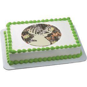 Camo Silhouette Quarter Sheet Edible Cake Topper (Each)