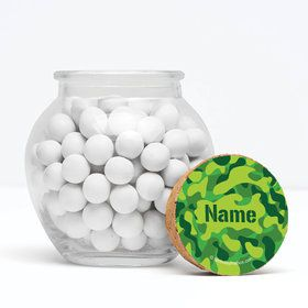 "Camouflage Personalized 3"" Glass Sphere Jars (Set of 12)"