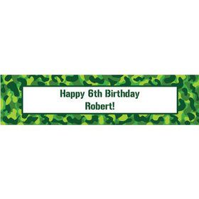 Camouflage Personalized Banner (each)