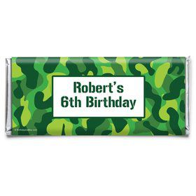 Camouflage Personalized Candy Bar Wrapper (Each)