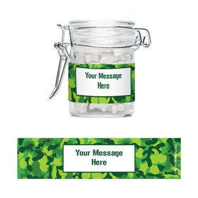 Camouflage Personalized Glass Apothecary Jars (10 Count)