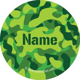 Camouflage Personalized Mini Stickers (Sheet of 20)