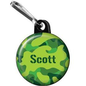 Camouflage Personalized Mini Zipper Pull (each)
