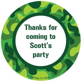 Camouflage Personalized Stickers (sheet of 12)