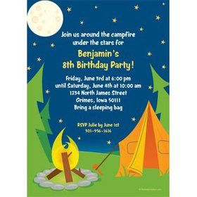Camping Personalized Invitation (each)