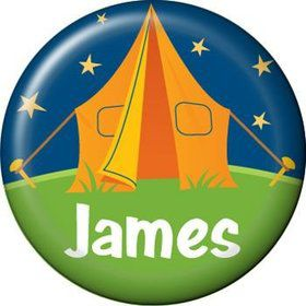 Camping Personalized Mini Button (each)