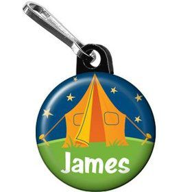 Camping Personalized Mini Zipper Pull (each)