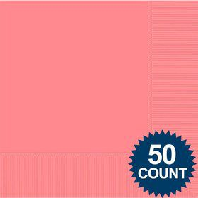 Candy Pink 2-Ply Luncheon Napkins, 50 ct.