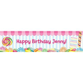 Candy Shoppe Personalized Banner (each)
