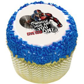 "Captain America 2"" Edible Cupcake Topper (12 Images)"