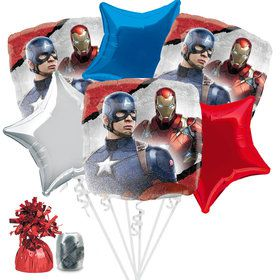 Captain America Balloon Bouquet Kit