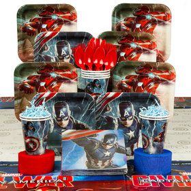 Captain America Birthday Party Deluxe Tableware Kit (Serves 8)