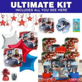 Captain America Birthday Party Ultimate Tableware Kit (Serves 8)