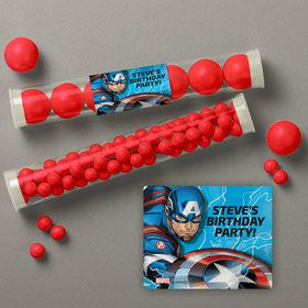 Captain America Personalized Candy Tubes (12 Count)