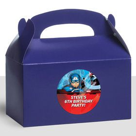 Captain America Personalized Treat Favor Boxes (12 Count)