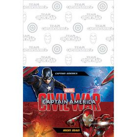 Captain America Plastic Table Cover (Each)