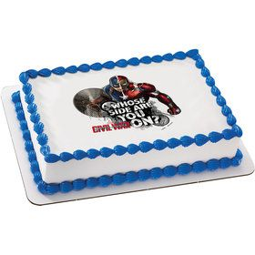 Captain America Quarter Sheet Edible Cake Topper (Each)
