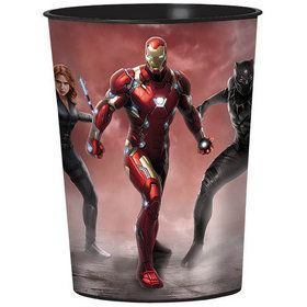 Captain America Red Plastic 16oz Favor Cup (Each)