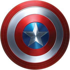 "Captain America Shield 9"" Plate (60 Count)"