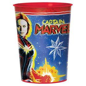Captain Marvel 16oz. Plastic Favor Cup (1)