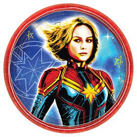 "Captain Marvel 7"" Dessert Plate (8)"