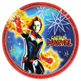 "Captain Marvel 9"" Lunch Plate (8)"