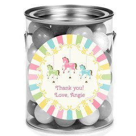 Carousel Personalized Mini Paint Cans (12 Count)