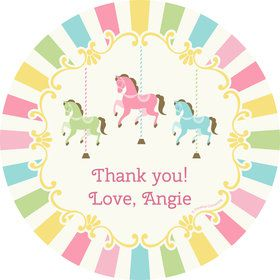 Carousel Personalized Mini Stickers (Sheet of 24)