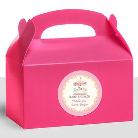 Carousel Personalized Treat Favor Boxes (12 Count)