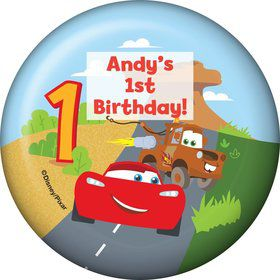 Cars 1st Birthday Personalized Magnet (Each)
