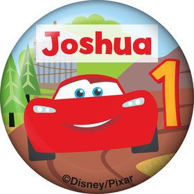 Cars 1st Birthday Personalized Mini Button (Each)