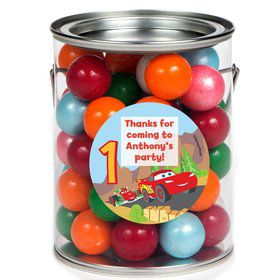 Cars 1st Birthday Personalized Paint Can Favor Container (6 Pack)