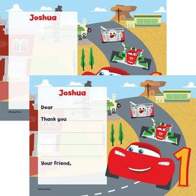 Cars 1st Birthday Personalized Thank You (Each)
