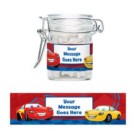 Cars 2 Personalized Glass Apothecary Jars (10 Count)