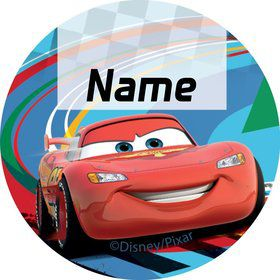 Cars 2 Personalized Mini Stickers (Sheet of 20)