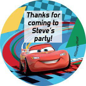 Cars 2 Personalized Stickers (Sheet of 12)