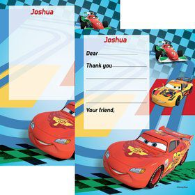 Cars 2 Personalized Thank You Note (Each)