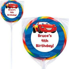 Cars Too Personalized Lollipops (pack of 12)