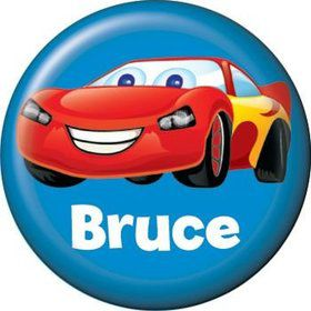 Cars Too Personalized Mini Button (each)