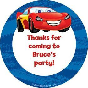 Cars Too Personalized Stickers (sheet of 12)