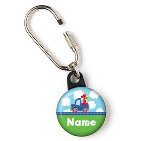 "Cars, Trucks, & Trains Personalized 1"" Carabiner (Each)"