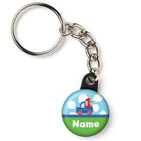 "Cars, Trucks, & Trains Personalized 1"" Mini Key Chain (Each)"