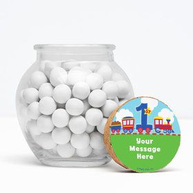 "Cars, Trucks, & Trains Personalized 3"" Glass Sphere Jars (Set of 12)"