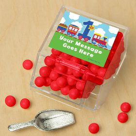 Cars, Trucks, & Trains Personalized Candy Bin with Candy Scoop (10 Count)