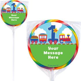 Cars, Trucks, & Trains Personalized Lollipops (12 Pack)
