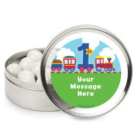 Cars, Trucks, & Trains Personalized Mint Tins (12 Pack)