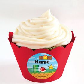 Cart Brothers Personalized Cupcake Wrappers (Set of 24)
