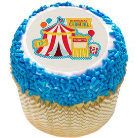 "Carvinal 2"" Edible Cupcake Topper (12 Images)"