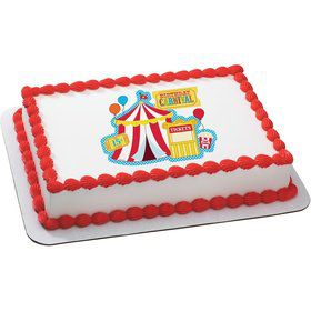 Carvinal Quarter Sheet Edible Cake Topper (Each)